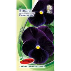 Цветы Виола Синеглазка крупноцветковая (Luxury Line)